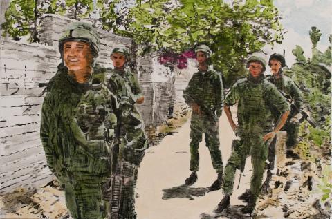 David Reeb, Bougainvillea, acrylic on canvas, 2009