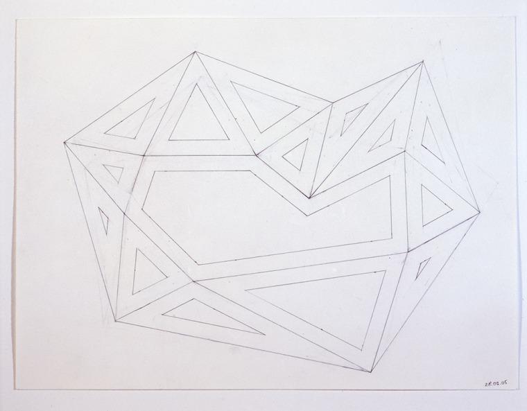 Richard Deacon, Alphabet, 2004-2005Graphite on paper