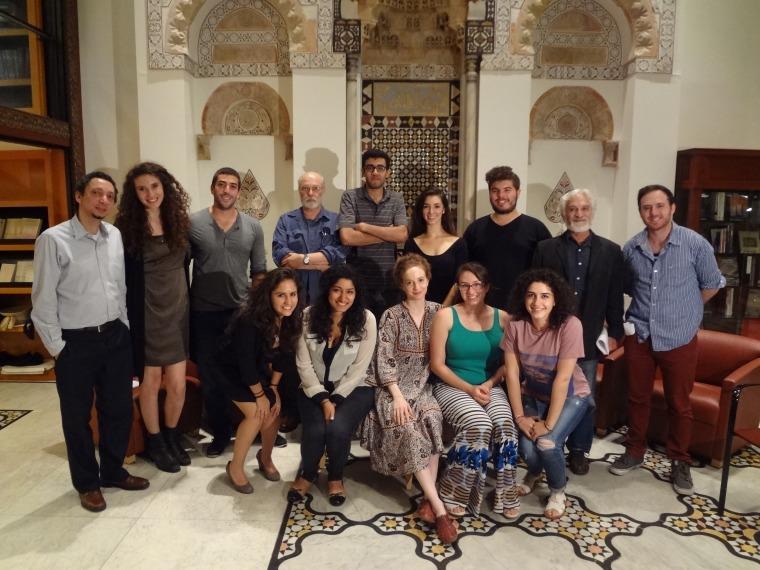 "Cast of MEFI's ""Double Lives"" workshop, held at the Hagop Kevorkian Center for Near Eastern Studies at New York University (Credit: MEFI)"
