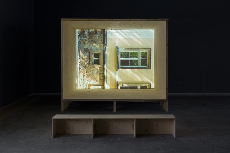 Nir Evron, Geist Und Blut Installation view, Tel Aviv Museum of Art, 2016. Design: Dan Hasson. Installation photography: Elad Sarig