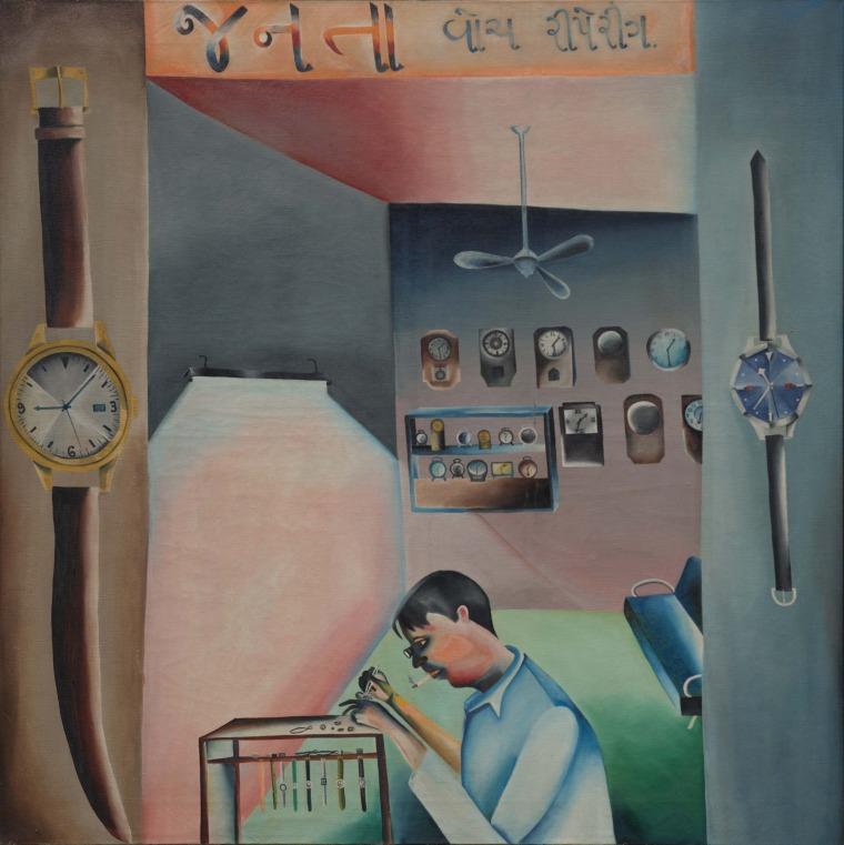 Bhupen Khakhar, Janata Watch Repairing, 1972  Vivan Sundaram and Geeta Kapur