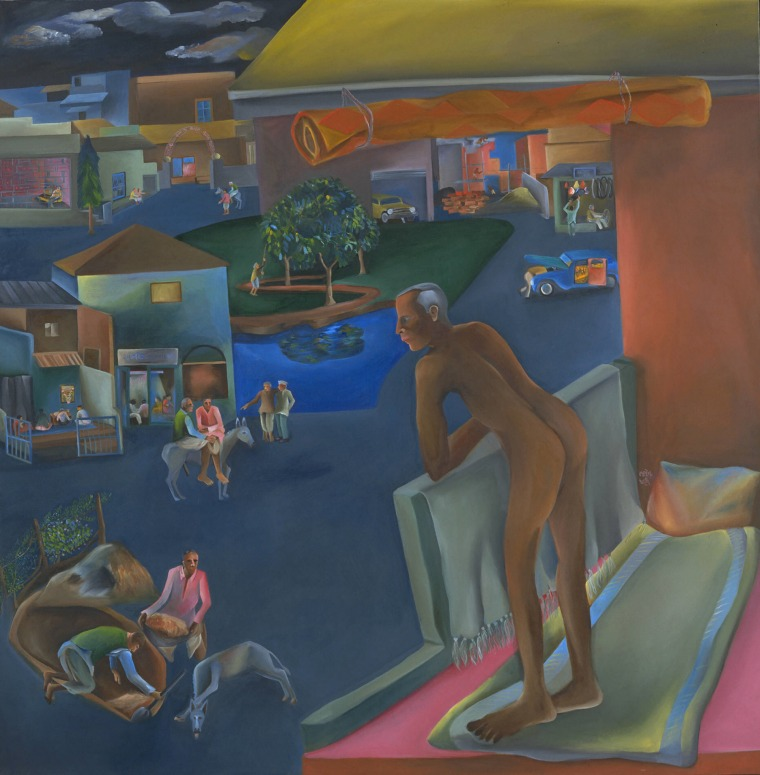 Bhupen Khakhar, You Can't Please All, 1981