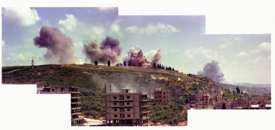"Saida June 6, 1982"", 2006-09, Composite Photograph, C-Print, 92 x 190 cm"