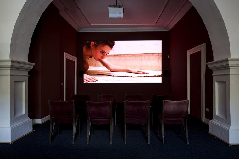 روعي روزين، قناة الغبار، 2016، فيديو رقمي، قصر بالفيو، كاسيل، دوكومنته 14، تصوير دانيئيل فايمر